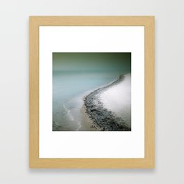 Coast line - Winter Baltic Sea Serie Framed Art Print