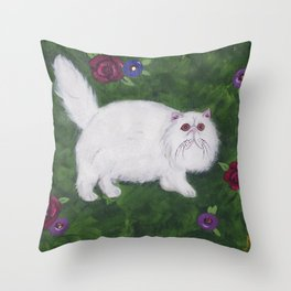 Persian Meadow Throw Pillow