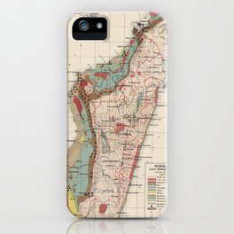 Vintage Geological Map of Madagascar (1922) iPhone Case