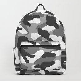 Grey Gray Camo Camouflage Backpack