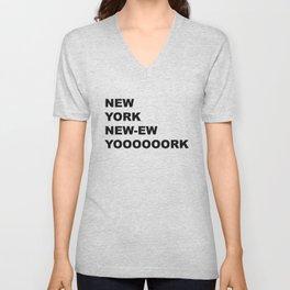 New York, New York Unisex V-Neck