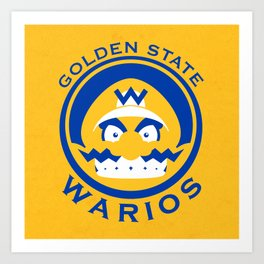 Golden State Warios - Mushroom Kingdom Champs Art Print