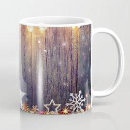 Holiday Christmas Pattern Wood Light Snowflake Sta Coffee Mug