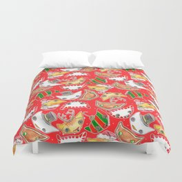 """Oro?"" Christmas Series RED Duvet Cover"