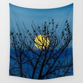 Night Birds Wall Tapestry