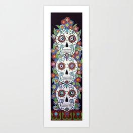 Sugar Skull Totem Art Print