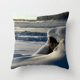 Rock on Mackenzie Shore Throw Pillow