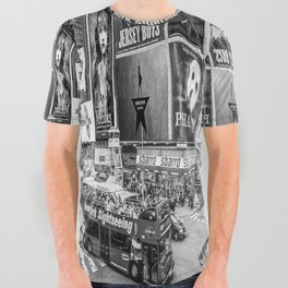 Times Square II (B&W widescreen) All Over Graphic Tee