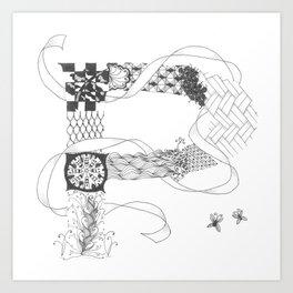 """Zenletter """"P"""" Art Print"""