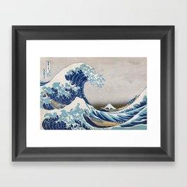 Under the Wave off Kanagawa - The Great Wave - Katsushika Hokusai Framed Art Print