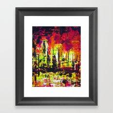 Minneapolis Skyline Reflection Framed Art Print