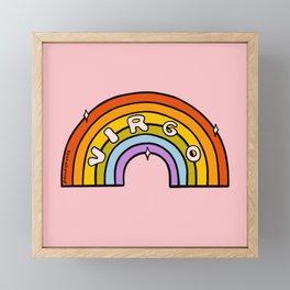 Virgo Rainbow Framed Mini Art Print
