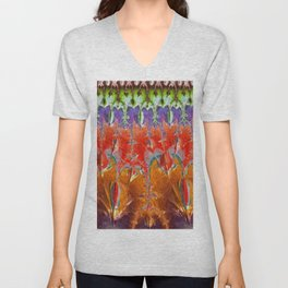 Tapestry Color by Pierre Blanchard Unisex V-Neck