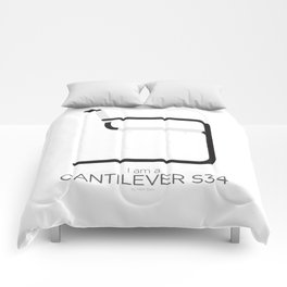 Chairs - A tribute to seats: I'm a Cantilever S34 (Poster) Comforters