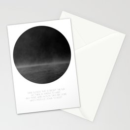 The Mist (white) Stationery Cards