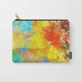 Abstract Painting with Vivid Colours Carry-All Pouch