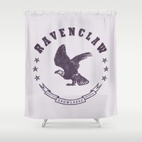 ravenclaw Shower Curtains featuring Ravenclaw House by Shelby Ticsay