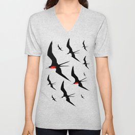Frigate Birds Majestic Flight Unisex V-Neck