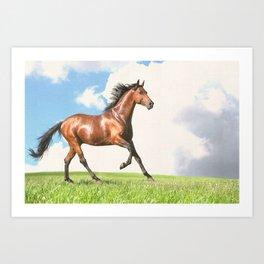 Horse print horse photography equestrian art poster Art Print