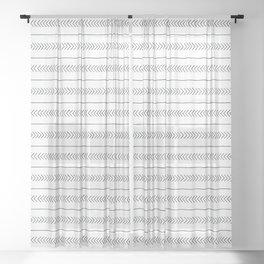 Arrows & Lines Sheer Curtain
