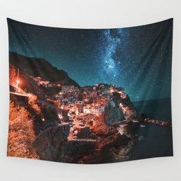 manarola by night Wall Tapestry