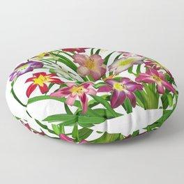 Display of daylilies II Floor Pillow