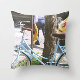 The Streets of Old Quebec  Throw Pillow