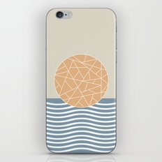 MAYBE THE SEA (abstract geometric) iPhone Skin