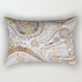 CASABLANCA a bohemian design using soft earth tones Rectangular Pillow