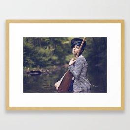 Up the Creek Framed Art Print