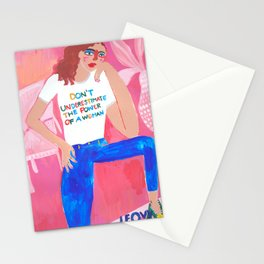 The power of a woman Stationery Cards