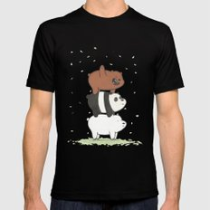 We Bare Bears by Maria Piedra X-LARGE Black Mens Fitted Tee