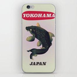Yokohama Japan vintage travel poster iPhone Skin