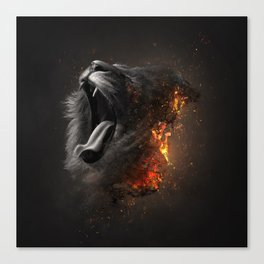 XTINCT x Lion Canvas Print