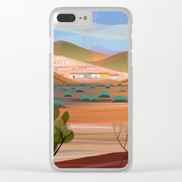 Copper Town (Square) Clear iPhone Case