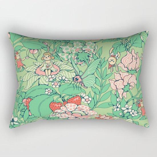Garden party - sage tea version Rectangular Pillow