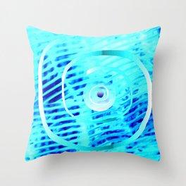 Spiral on  blue Throw Pillow
