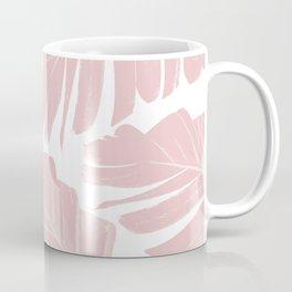 Blush Banana Leaves Dream #11 #tropical #decor #art #society6 Coffee Mug