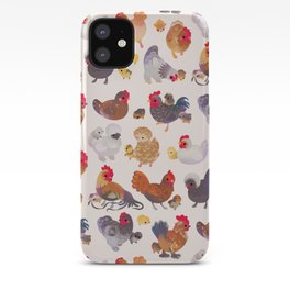 Chicken and Chick iPhone Case