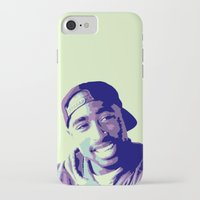 tupac iPhone & iPod Cases featuring Tupac by victorygarlic - Niki