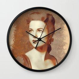 Martha Hyer, Hollywood Legend Wall Clock