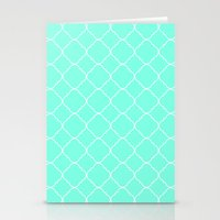 moroccan Stationery Cards featuring Mint Moroccan by Beautiful Homes