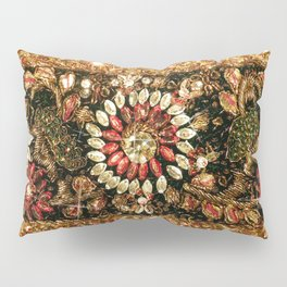 Beaded Indian Saree Photo Pillow Sham