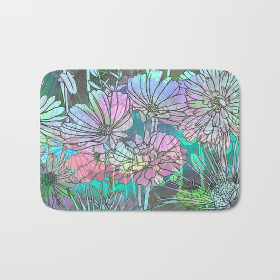 Spring Meadow Pattern Bath Mat