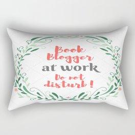 Book Blogger at work. Rectangular Pillow