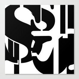 """Stencil """"S"""" and Tahoma """"l"""" Typography Canvas Print"""
