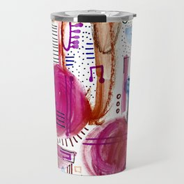 Abstract with Pink Cercles Travel Mug