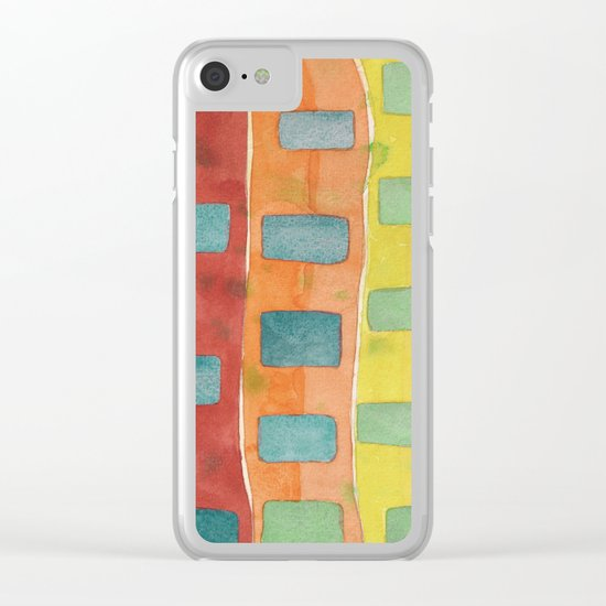 Placed in a Red Orange Yellow Field Clear iPhone Case