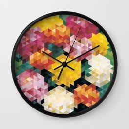 Chrysanthemums 2 Wall Clock