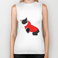 boston terrier Biker Tanks featuring Boston Terrier by Marstella